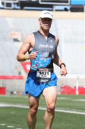 Cancer survivor races to the finish line