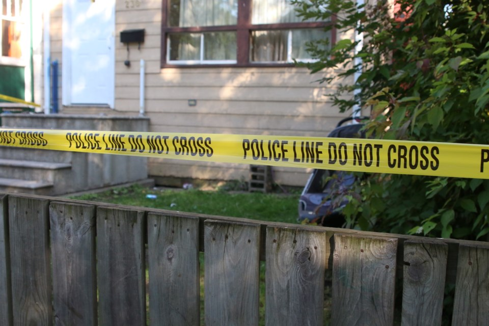 Police were on the scene at a North Syndicate Avenue residence Sunday afternoon after a deceased male was discovered. (Photos by Doug Diaczuk - Tbnewswatch.com).