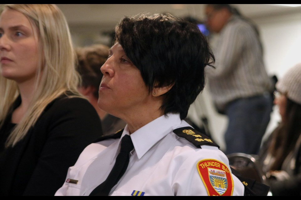 Thunder Bay Police Service chief, Sylvie Hauth. (Photo by Doug Diaczuk - Tbnewswatch.com).