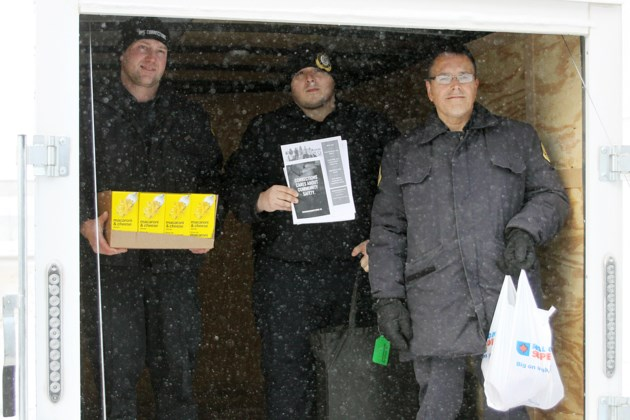 Correctional officers food drive