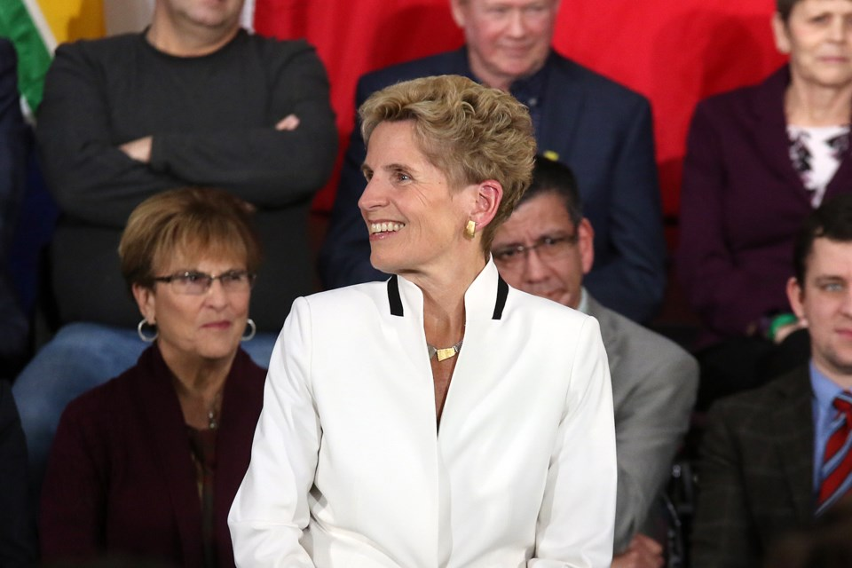 Premier Kathleen Wynne hosts a town hall at the Italian Cultural Centre in Thunder Bay on Wednesday, Jan. 31, 2018. (Leith Dunick, tbnewswatch.com)