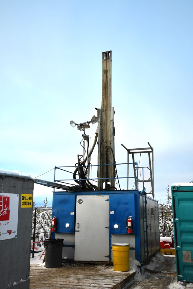 Ignace nuclear waste  test drilling 2018
