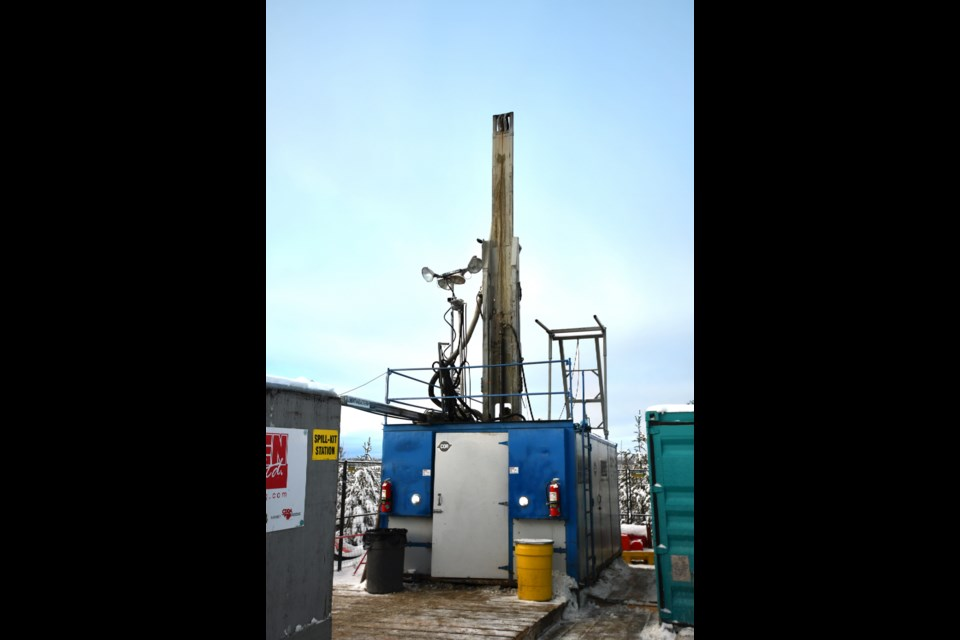 A borehole was drilled to a depth of 1000 m. near Ignace, Ontario (NWMO photo)