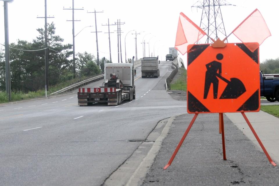 The two-year Main Street Bridge rehabilitation project began in 2018. (Matt Vis, tbnewswatch.com)