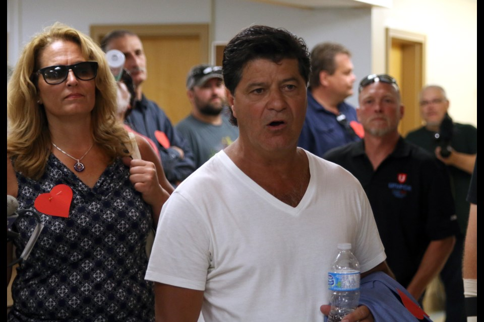 National Unifor president, Jerry Dias, walked into the Port Arthur Health Centre to speak with doctors during a rally in support of striking clinic workers on Monday. (Photos by Doug Diaczuk - Tbnewswatch.com).
