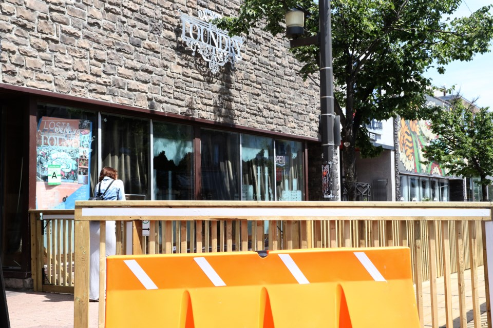 A pop-up patio at the Foundry is expected to be completed in two weeks. (Michael Charlebois, tbnewswatch)