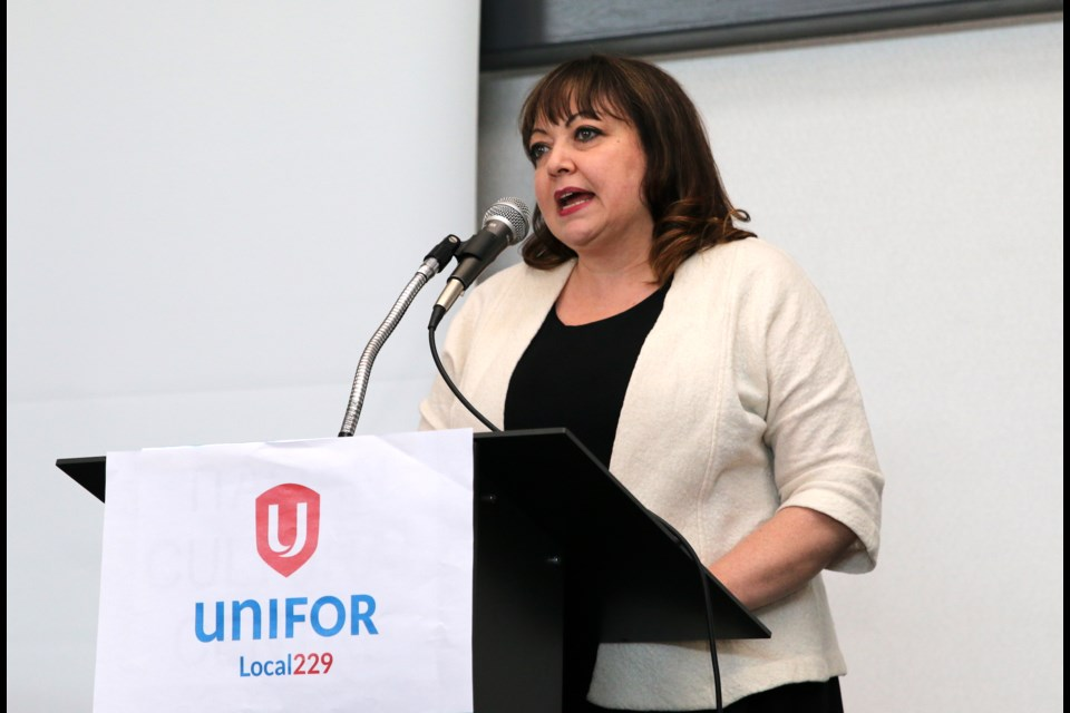 Natalie Mehra, executive director of the Ontario Health Coalition, said staffing shortages is an issue impacting long-term care homes across the province. (Photos by Doug Diaczuk - Tbnewswatch.com).
