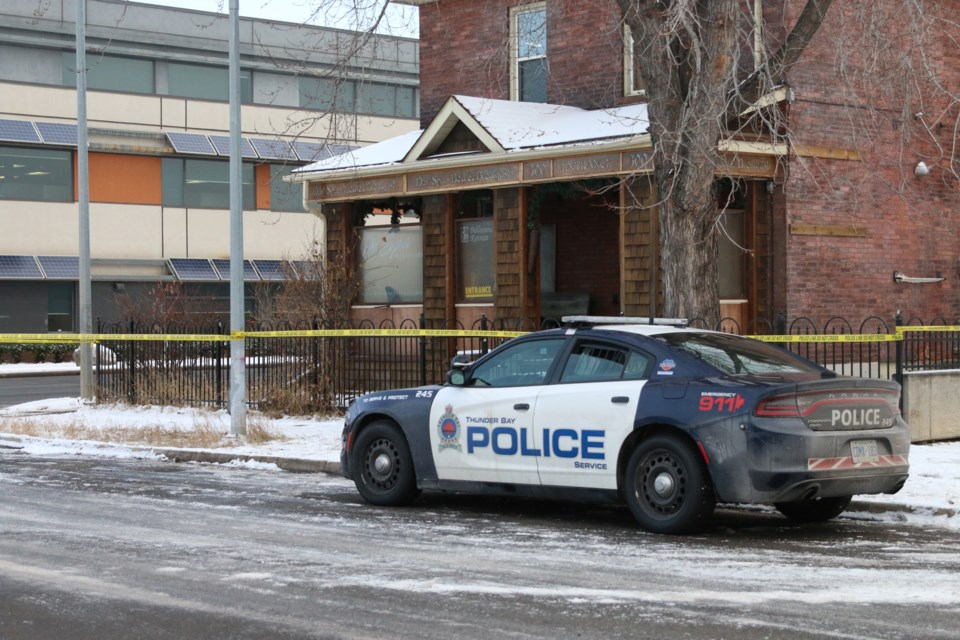 Police were holding the scene of a shooting at a Brodie Street residence that resulted in the death of Geoffrey Corbeil. (File).