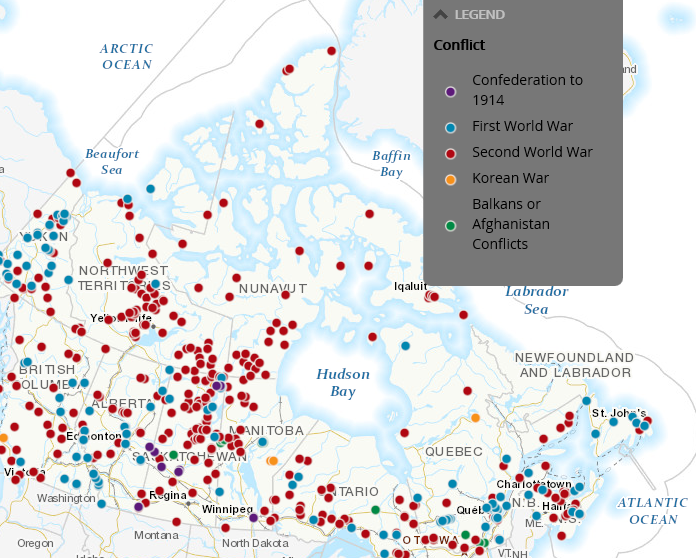 Map Of Canada Interactive.Interactive Map Honours Canada S War Heroes Tbnewswatch Com