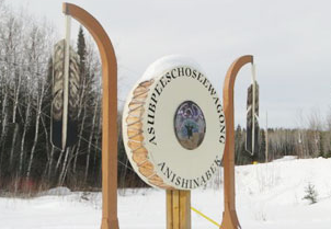 Grassy Narrows first nation sign