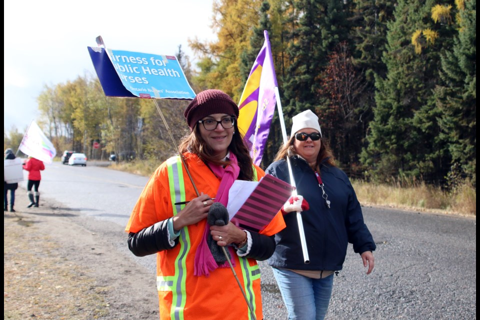 Nurses with the Thunder Bay District Health Unit began strike action on Tuesday. (Photos by Doug Diaczuk - Tbnewswatch.com).