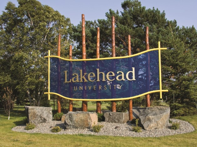 Lakehead University sign