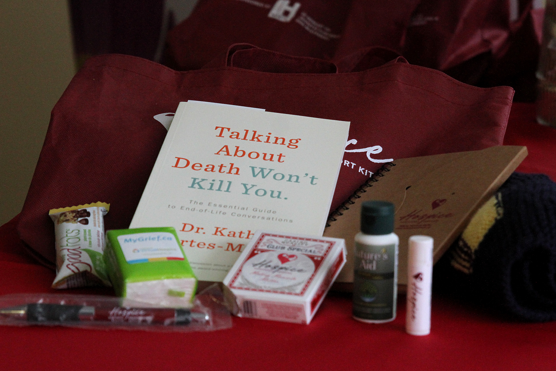 Comfort kits providing support for grieving families