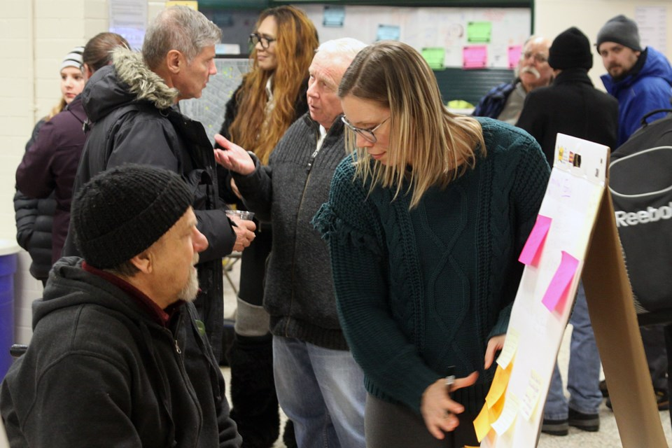 An open house about potential recreational programming options in the city's McKellar Park neighbourhood was held at the Fort William Gardens on Tuesday, February 12, 2019. (Matt Vis, tbnewswatch.com)