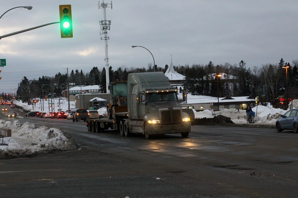 Transport trucks will no longer be able to use Dawson Road to enter the city from out of town after Thunder Bay city council approved a designated truck route on Monday, January 14, 2019. (Matt Vis, tbnewswatch.com)