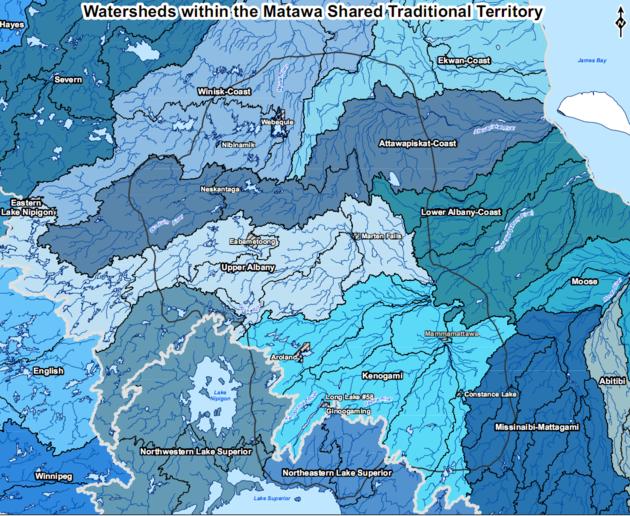 Matawa watersheds map