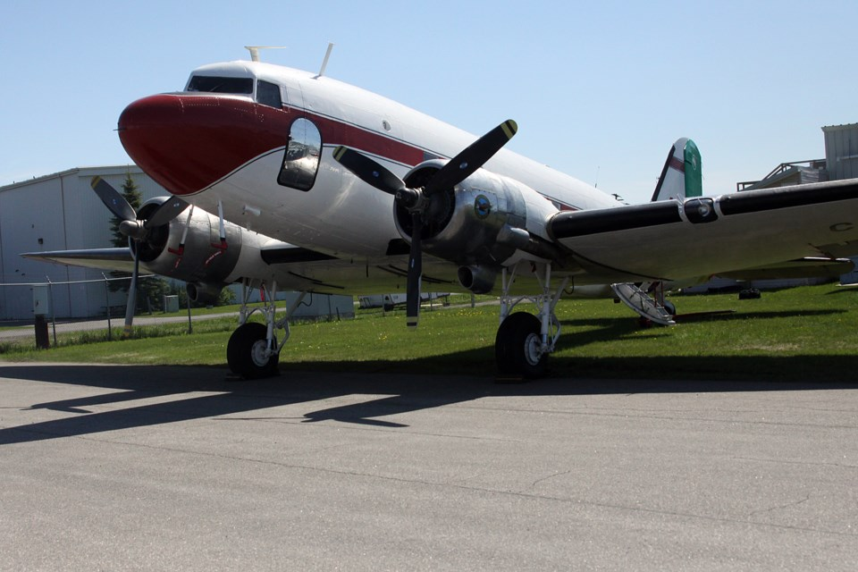 The DC-3 was built by the Douglas Aircraft Company in 1944. (Matt Vis, tbnewswatch.com)