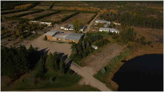 The Goliath Gold Project office is located near Wabigoon, east of Dryden (Treasury Metals Inc. photo)