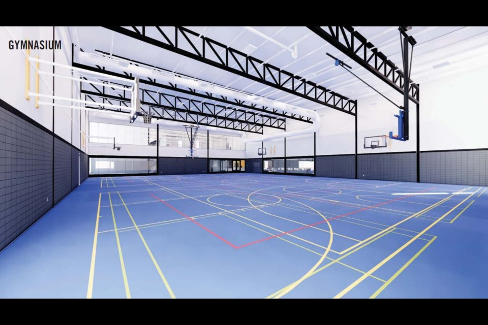 A rendering of a multi-purpose gymnasium that would be included in Lakehead University's new athletics building. (Submitted by Lakehead University Athletics)