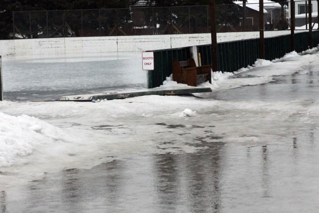 Melted rink