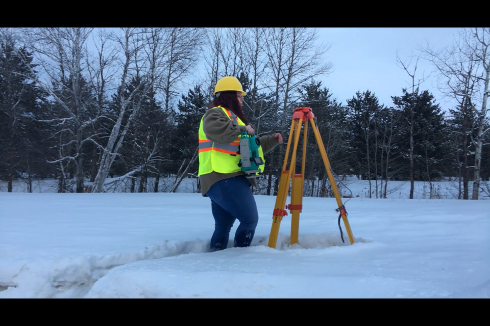Brooklyn Patey, second-year Civil Engineering Technology student. (Photo courtesy of Confederation College)