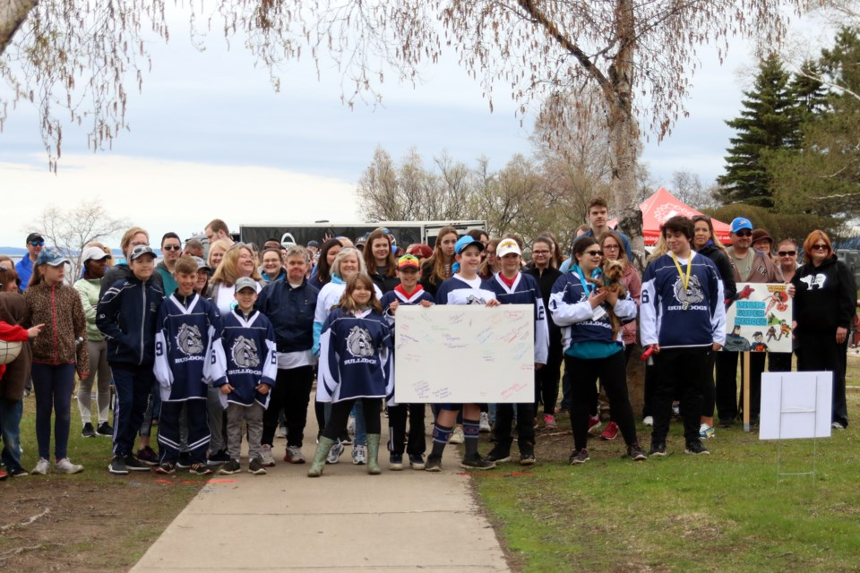 More than 80 people participated in the Annual Walk to Make Cystic Fibrosis History on Sunday. (Photos by Doug Diaczuk - Tbnewswatch.com).