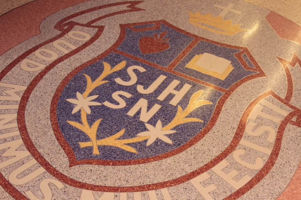 The St. Joseph's crest was developed by local tile worker 