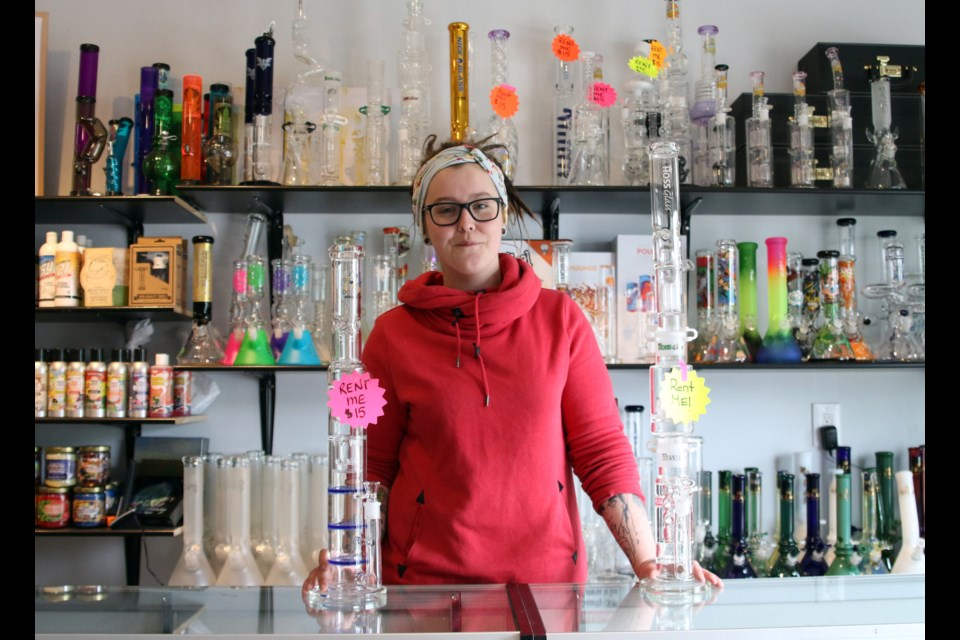 Tori Nicholetts, manager of the Trixxx Lounge in Westfort, said the new business provides a large outdoor patio for people to use cannabis products. (Photos by Doug Diaczuk - Tbnewswatch.com).