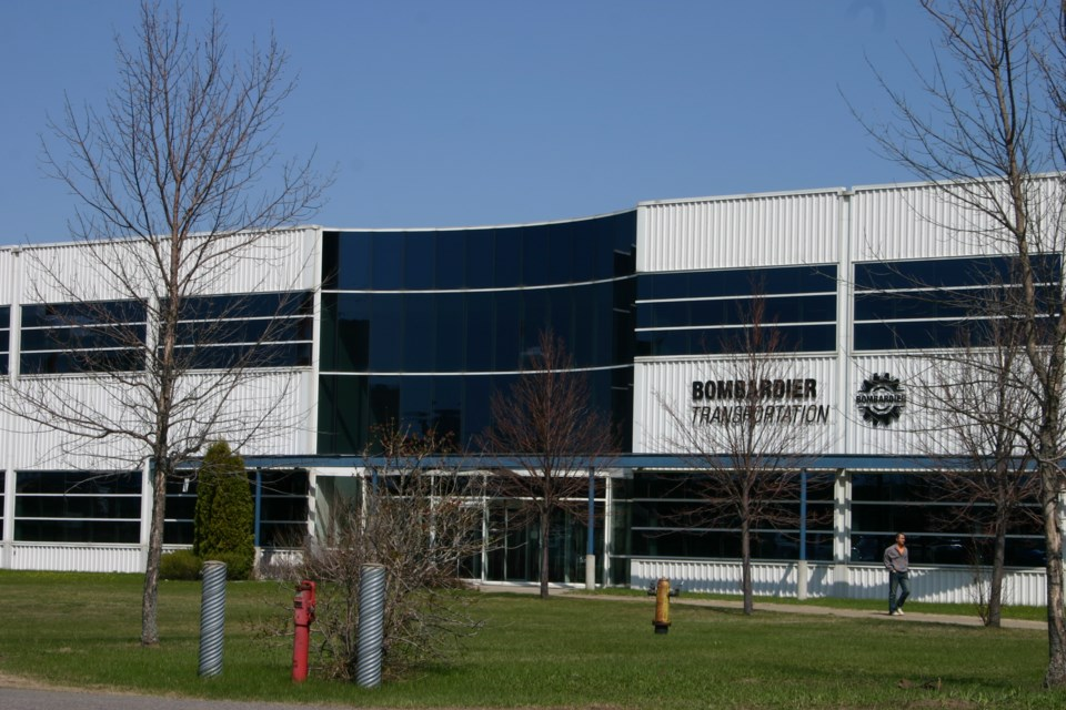 The Bombardier Transportation plant on Montreal Street in Thunder Bay (Tbnewswatch file)