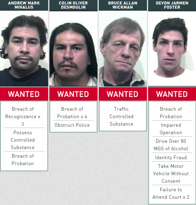 Wanted Wednesday looking for four more warrant evaders - TBNewsWatch.com