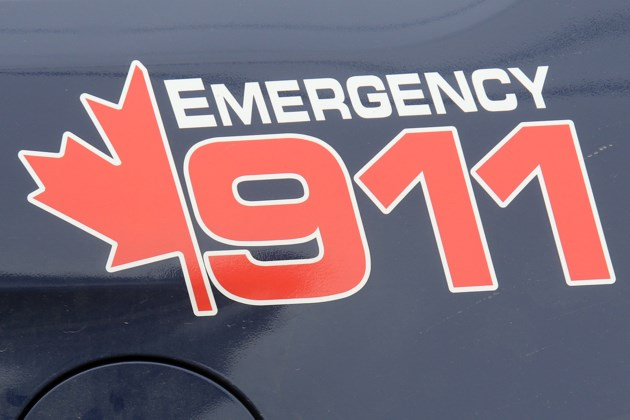 911 on Door