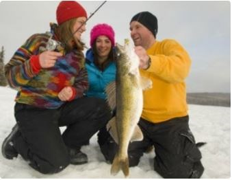 ice fishing Ontario