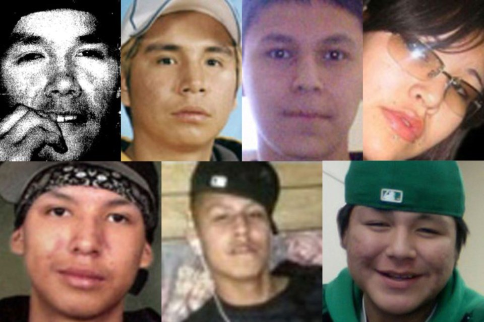 The Seven Youth Inquest examined the deaths of Jethro Anderson, Curran Strang, Paul Panacheese, Robyn Harper, Reggie Bushie, Kyle Morriseau and Jordan Wabasse. (tbnewswatch file photograph)