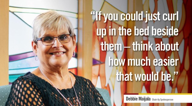Debbie Maijala - chair-ity St. Josephs Spotlight