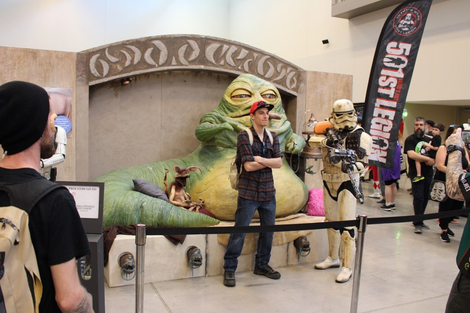Jabba the Hutt and a Stormtrooper were among the characters greeting fans. Ryan Walsh / Thorold News