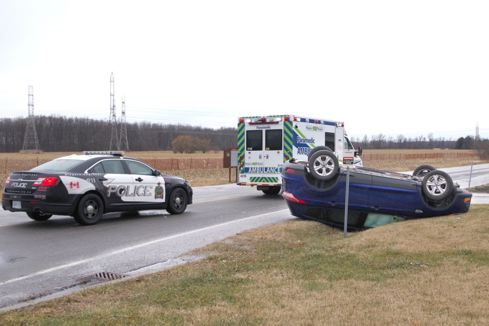 No word on injuries after this Ford Escape roll over. Bob Liddycoat/ThoroldNews