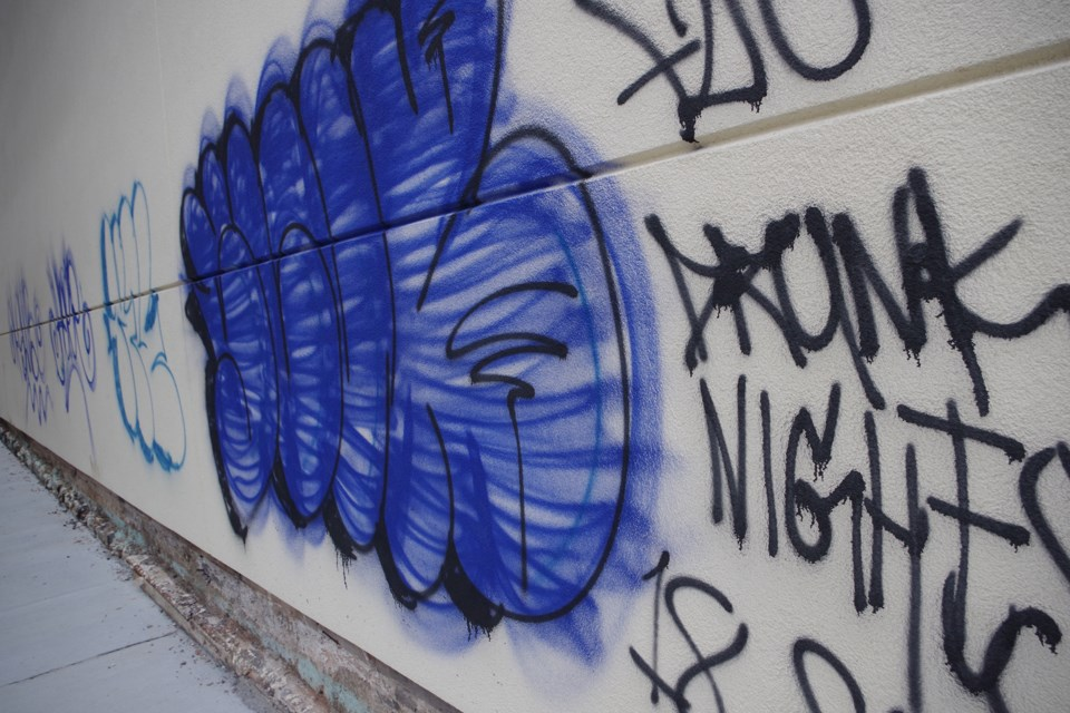 The Yoga Centre of Niagara was the main target of graffiti vandals last night. Bob Liddycoat/ThoroldNews
