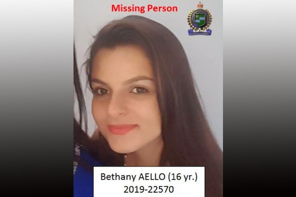 Bethany Aello. Photo provided by Niagara Regional Police Service