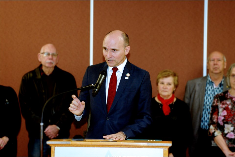 The Honourable Jean-Yves Duclos was at the Thorold Seniors Centre this morning outlining 2019 Federal Budget measures aimed at helping seniors. Bob Liddycoat / Thorold News