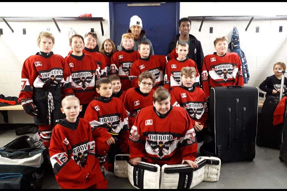 The Four Aces Traffic Control Atom Blackhawks. Team photo