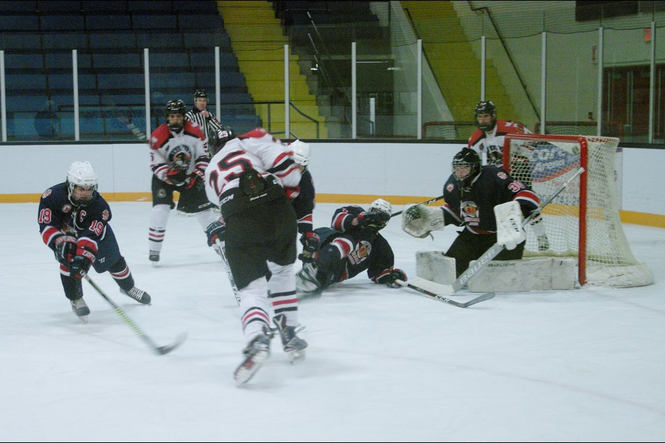 Alex Mourani gets a chance as Hawks apply pressure on the visiting Regals.