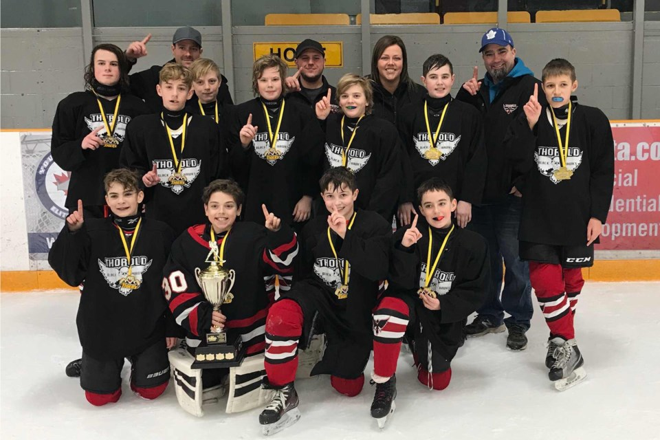 Thorold Peewee championship team. Submitted photo