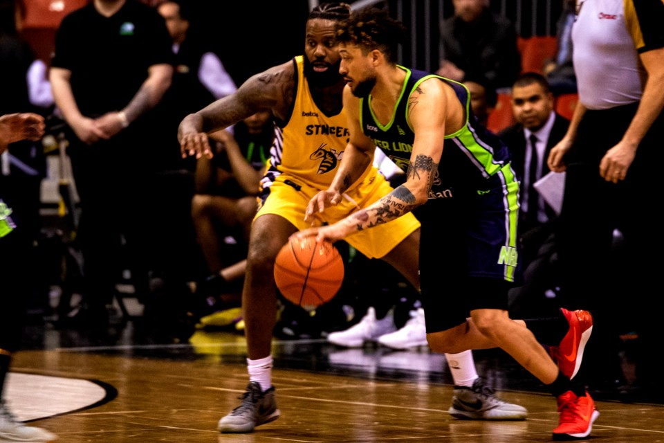 Ryan Anderson in action against the Stingers on the weekend. CEBL Photo