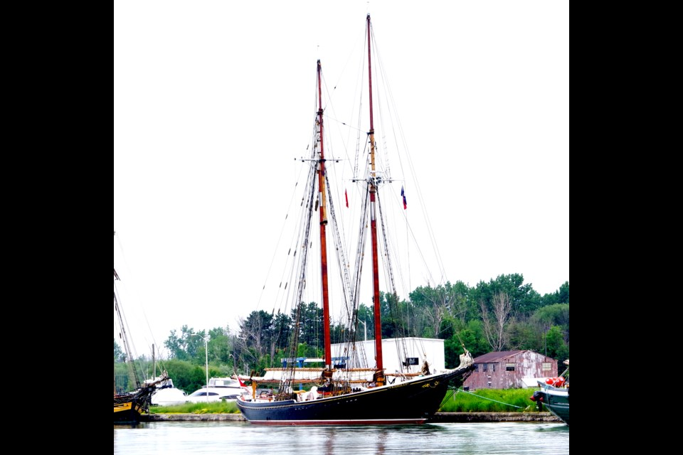 The Bluenose II scheduled to pass through Thorold later today. Bob Liddycoat / Thorold News