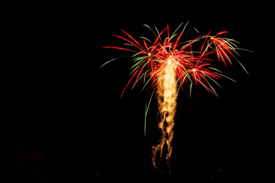 Canada Day Fireworks. Bob Liddycoat / Thorold News