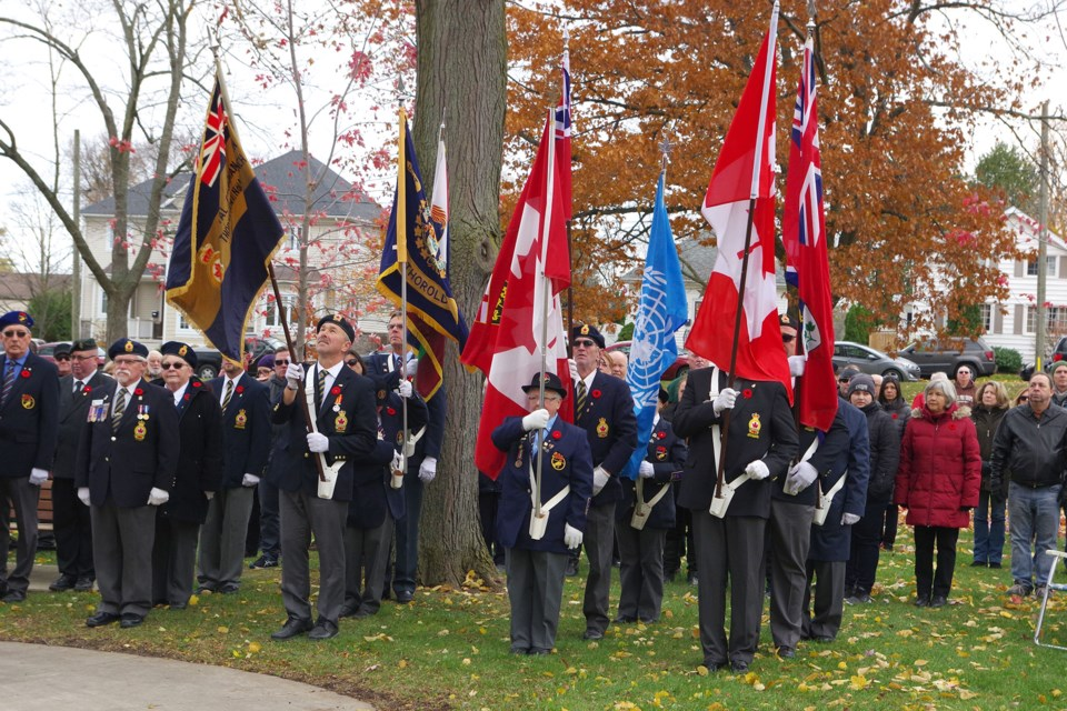 Special Remembrance Day ceremony in 2018. Bob Liddycoat / Thorold News