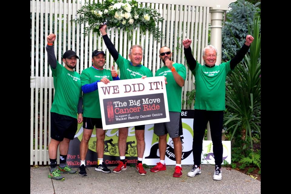 Thorold team enters the Big Move Cancer Ride. Bob Liddycoat / Thorold News