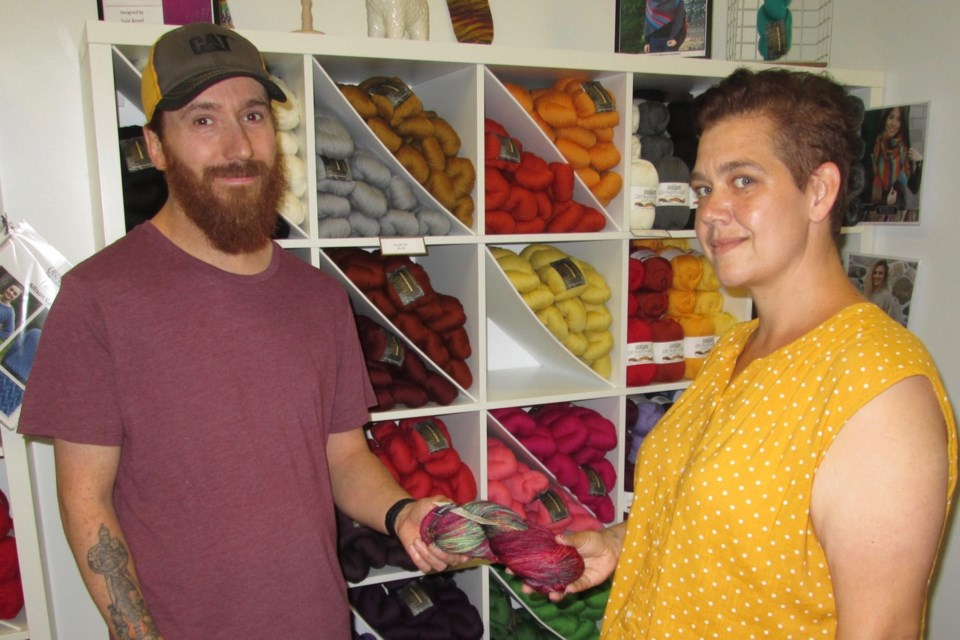 Marc and Angele Francoeur recently opened The Northern Purl in The 101 Mall. The specialty store sells supplies and equipment for fibre artists. They sell supplies and equipment for fibre artists. These include handmade and dyed batts and roving for spinners and hand-spun yarns. Wayne Snider for TimminsToday