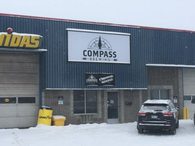 Compass Brewing exterior Winter
