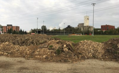 Hollinger Park dirt piles Sept 2017